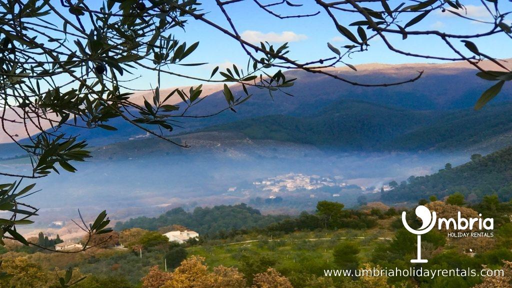 immediate countryside, surrounding Vista Del Mondo, in winter !