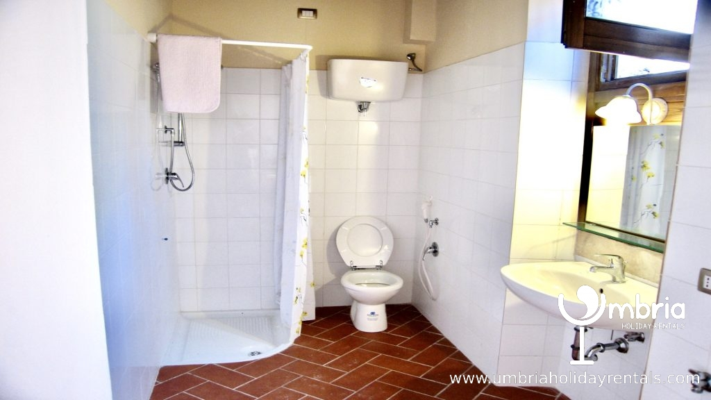 all 4 shower rooms similar - large and white