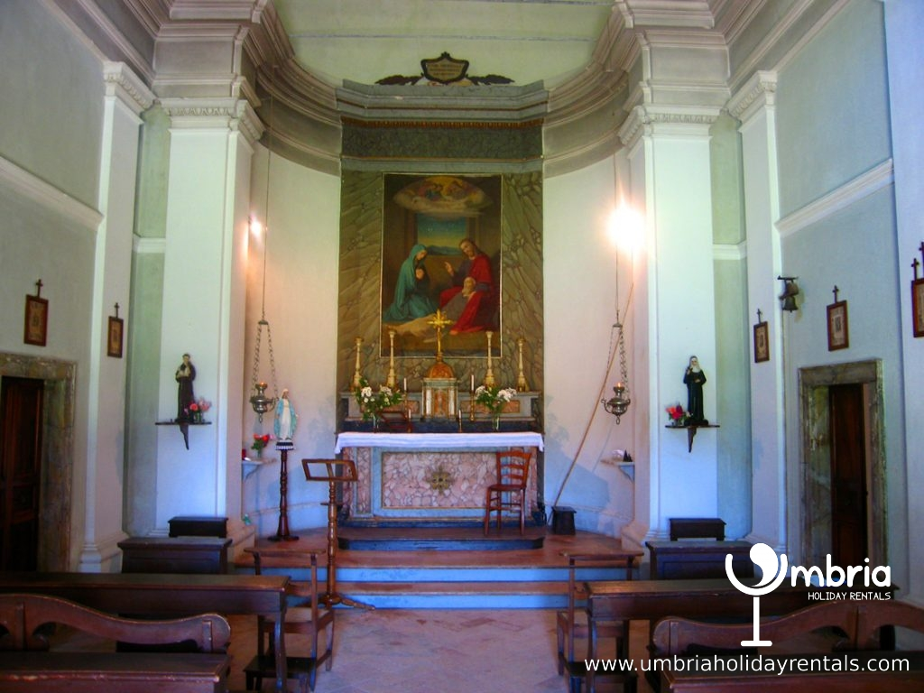 The family chapel within the sanctified grounds at the back of the Monastery