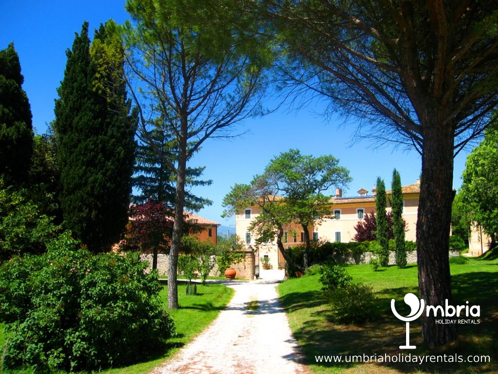 Driveway to the Monastery, the Monastery Suites and the Monastery Lodge